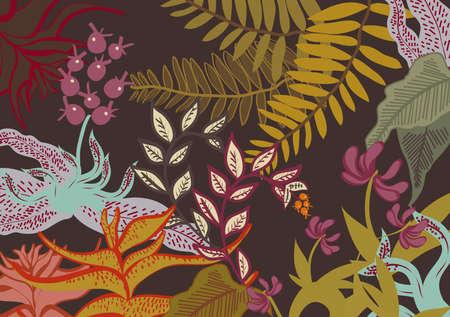lussureggiante: lussureggiante di pittura floreale Vettoriali