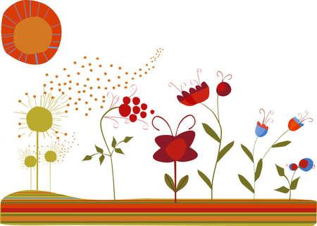 wonderful garden Stock Vector - 4182425