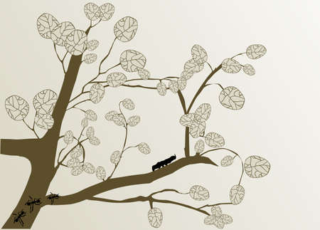 brow: branch and leaves