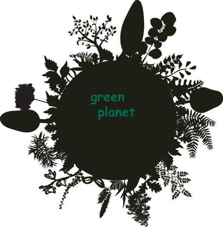 luxuriant: stylized luxuriant planet Illustration