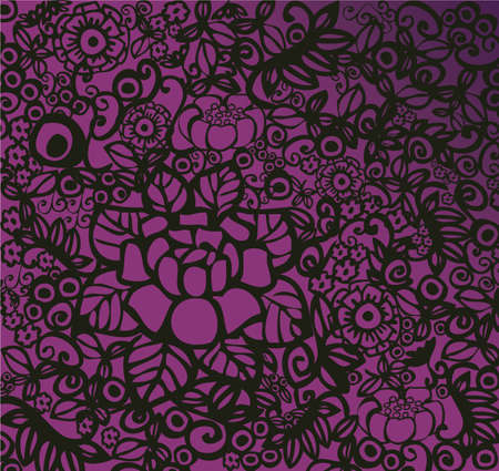 modern floral wallpaper Vector