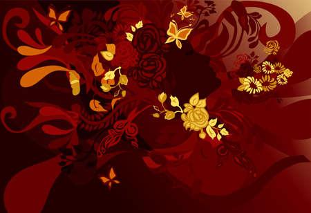sillhouette: floral woman Illustration