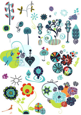 cute design elements Vector