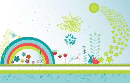 fantasy garden Stock Vector - 4476929