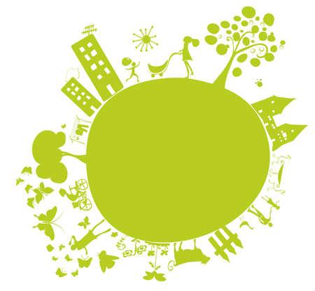 green planet Stock Vector - 4538833