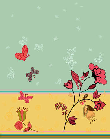 in the garden : a whimsical painting Stock Vector - 4588084