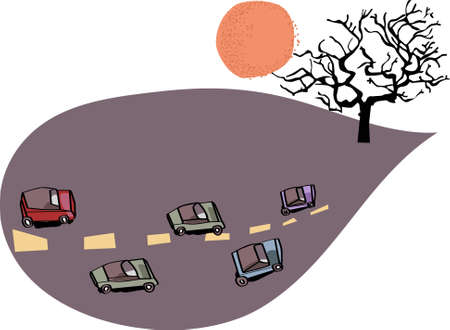 graphic card with cars Vector