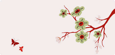 cheery: blossom in asian style Illustration