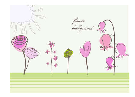 beautiful and original floral background Vector