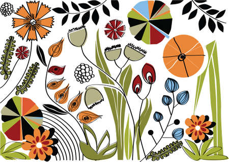 vector - nature background with graphic elements Stock Vector - 4916370