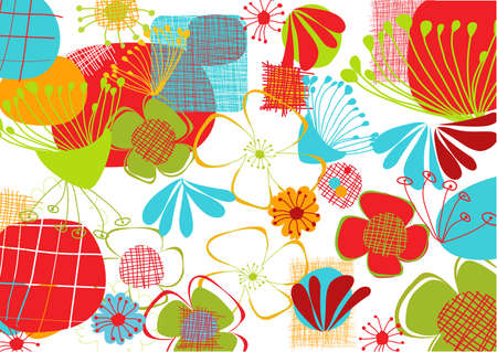 abstract stylized floral background