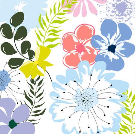 daisie: floral wallpaper Vettoriali