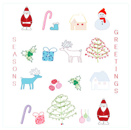 candycane: cute christmas card with design elements