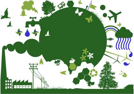 ecologic earth Vector
