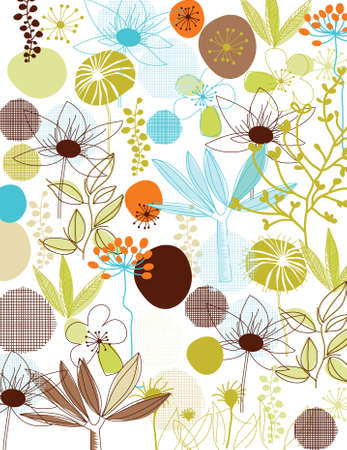 vector - nature background with graphic elements