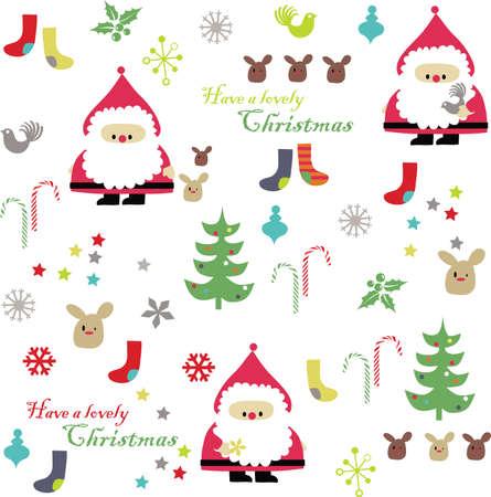 vector - christmas card celebration Illustration