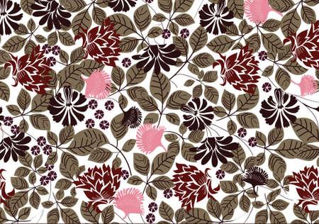 vector - nature old fashion wallpaper Stock Vector - 5585131