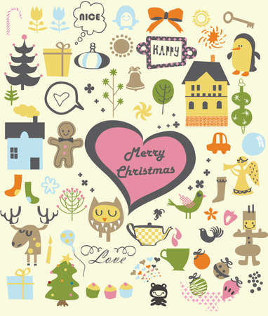 vector - christmas stickers