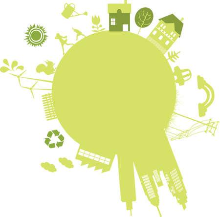 벡터 - 미래를위한 지속 가능한 도시