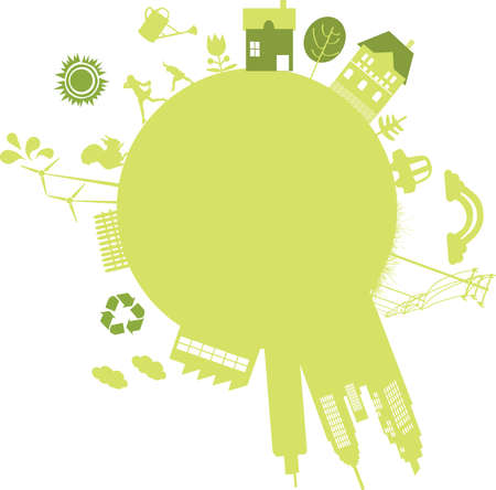 vector - sustainable city for the future Vector