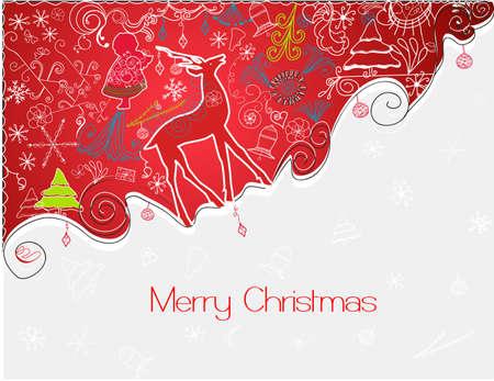 cute modern christmas background Illustration