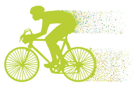 speed ride: The green biker