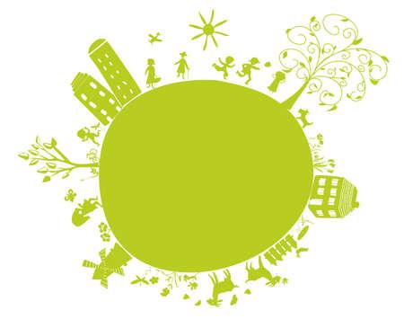 new green little earth Vector