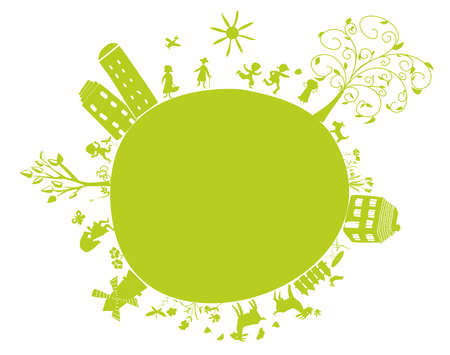 new green little earth Vector