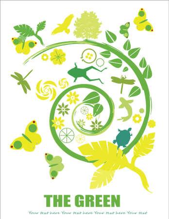 go green ! Ilustracja