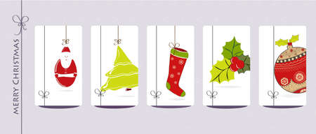 collection of Christmas cards Vector
