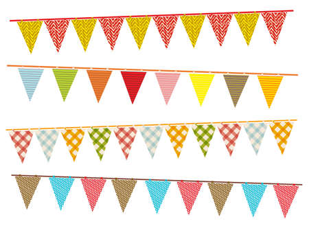 sackcloth: party pennant bunting Illustration