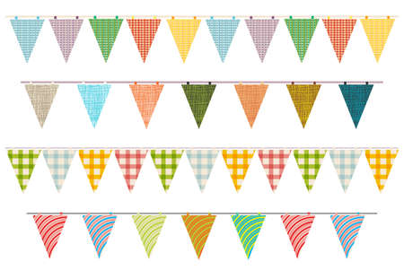 burlap: party pennant bunting Illustration