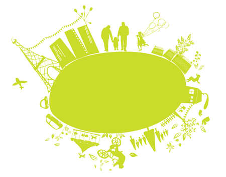 go green: green little planet earth