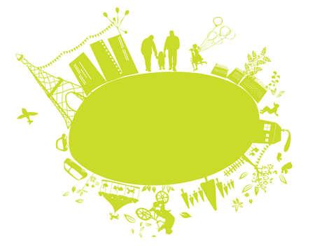 planeta tierra feliz: tierra verde peque�o planeta Vectores