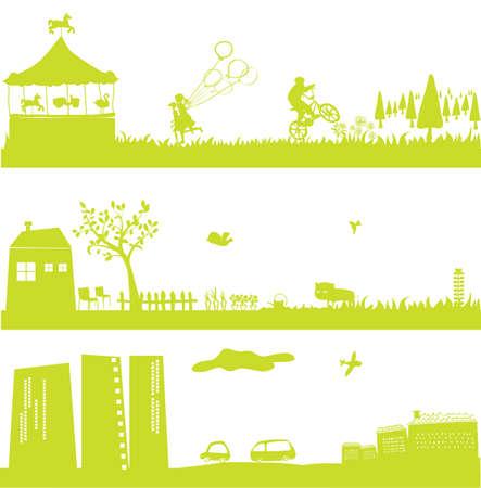 haus garten: Netter gr�ner Landschaft und Stadtbild