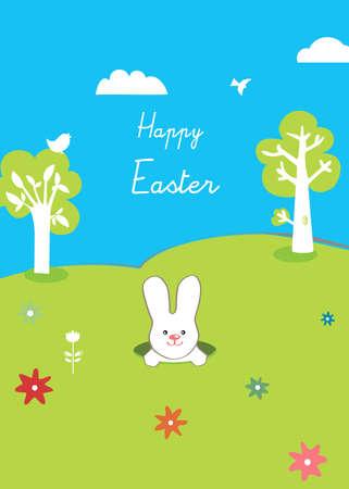 arbol de pascua: �Feliz Pascua, el conejo y los �rboles, lindo