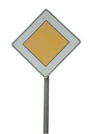 Road sign isolated photo