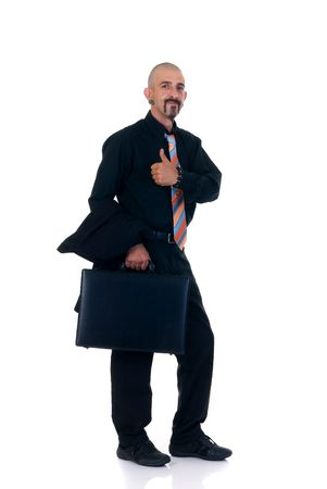 Alternative businessman formal dressed, studio shot  photo
