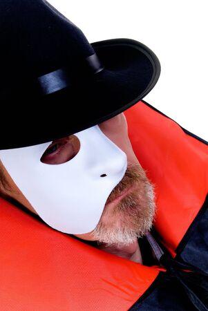Halloween, Phantom of the opera on white    photo