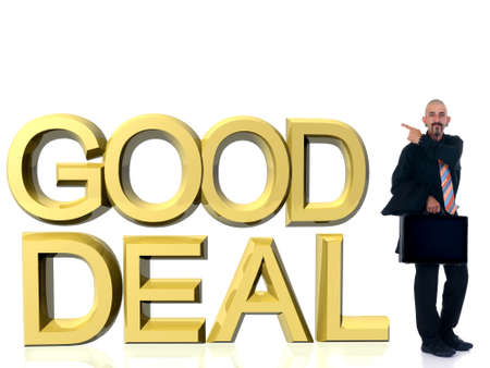 buen trato: Hombre de negocios de mediana edad vestido formal contentos con su buen trato, estudio tiro