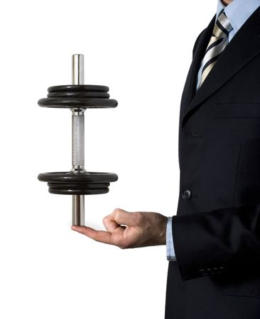 quite: Pushing your business up is quite easy! Stock Photo