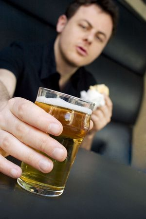 This guy deserves a fresh beer... Stock Photo - 408886
