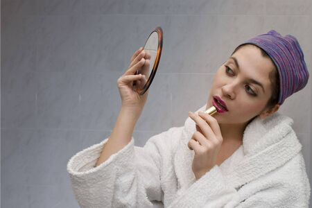 looking at the mirror Stock Photo - 411314