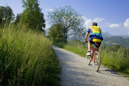 biking in the country photo