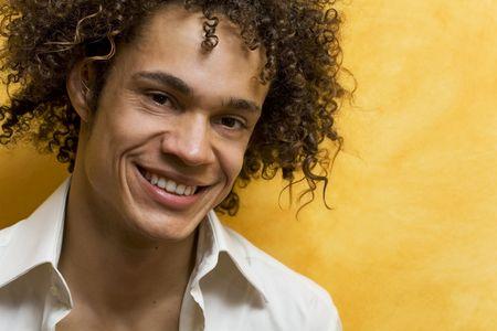 nice guy smiling Stock Photo