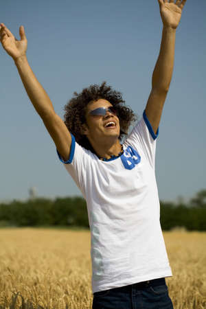happy guy with open arms Stock Photo - 444093