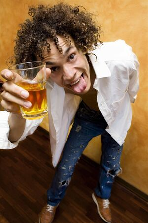 drunk: its easy to get high.... Stock Photo