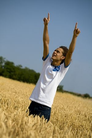 happy guy with open arms Stock Photo - 450021