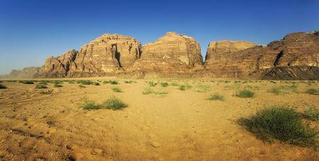 erg: panorama of the wadi run desert