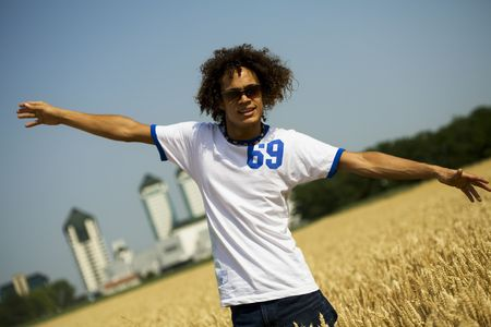 happy guy with open arms Stock Photo - 501325